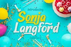 Sonja Longford is a cute and casual display font with an incredibly friendly feel. Whether you're looking for fonts for. Handwritten Script Font, Premium Fonts, All Fonts, School Design, Free Design, Art Pieces, Stationery, Diy Projects, Scripts