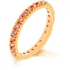 Pink Cubic Zirconia Eternity Ring