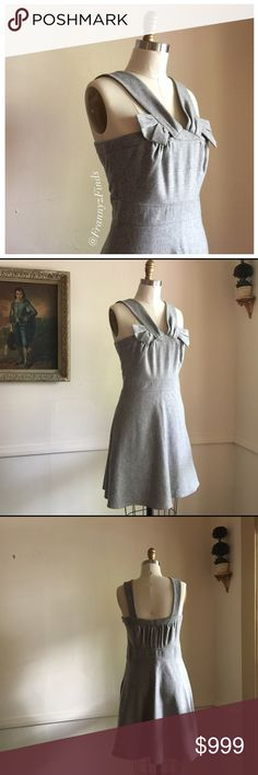 • Gray Wool Blend Dress • EUC • Cooler Weather Chic • Wear Solo or with a Polo Neck, Shirt, or Blouse • Fit & Flare • Fully Lined • Wool 51% • Rayon 33% • Polyester 16% • Chest Approx 32 • Waist 30 • Length 35 To The Max Dresses
