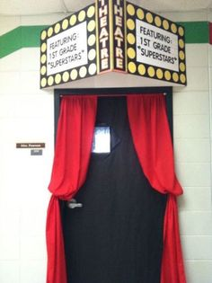 20 Trendy Classroom Door Decorations For Testing Hollywood Theme Classroom Displays, Music Classroom, Future Classroom, School Classroom, Classroom Themes, Classroom Window Decorations, Star Themed Classroom, Fall Classroom Door, Circus Classroom
