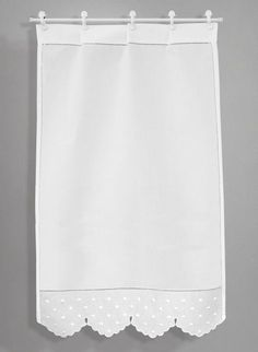 Scandinavian Window Treatments, Kitchen Window Treatments, Curtains With Blinds, Window Curtains, Beautiful Curtains, Curtain Designs, Kitchen Curtains, Window Coverings, Shabby Chic