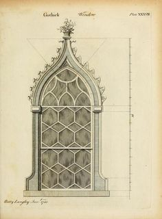 Design for a Gothic window, 1742