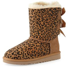 e5175452aa3 UGG Australia Kids  Leopard-Print Bailey Boot ( 150) ❤ liked on Polyvore  featuring shoes and boots