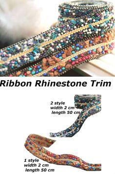 #Ribbon #RhinestoneTrim Chain Sequin Embellishments Belt #WeddingAccessory Bridal Dresses #RibbonApplique Shoes Chain Rhinestone, length 50 cm
