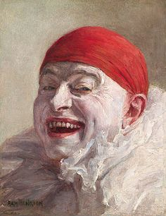♠️Armand Francois Joseph Henrion He did a whole series of these clown self- portraits ♥️Armand Henrion (Belgium Artist )  ♣️Fosterginger.Pinterest.ComMore Pins Like This One At FOSTERGINGER @ PINTEREST