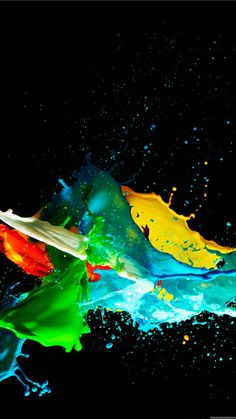 Mobile Wallpaper Iphone Wallpaper Colorful Wallpaper Abstract Painting Color Splash