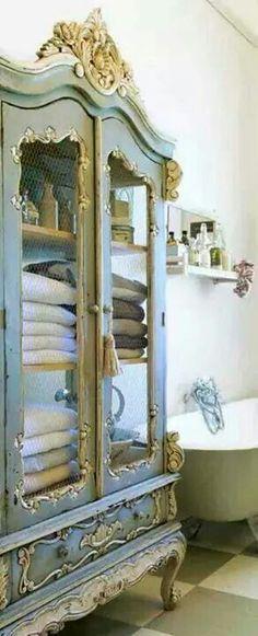Beautiful way to display towels