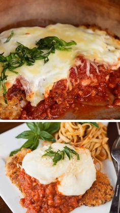 The best chicken Parmesan recipe youll find! This breaded chicken Parmesan is full of flavor takes minutes to cook and is my favorite chicken dinner recipe! It is so easy you would want to make it weekly. Save this pin! Breaded Chicken Parmesan, Chicken Parmesan Recipes, Best Chicken Recipes, Best Dinner Recipes, Chicken Parmo Recipe, Best Chicken Parmigiana Recipe, Best Breaded Chicken Recipe, Chicken Steak, Food Videos