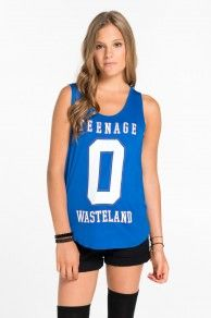 TEENAGE WASTE PRT LOW ARMHOLE HI LO MUSCLE TANK