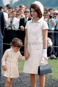 Jacqueline Kennedy and John Jr, 1965, England