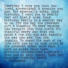 Need Happy Birthday Poems for your husband, wife, brother or sister? Find funny, short happy birthday poems for your friend, mom or daughter right here. Happy Birthday Quotes For Him, Birthday Greetings For Boyfriend, Birthday Wishes For Lover, Birthday Message For Boyfriend, Happy Birthday My Love, Birthday Wishes Quotes, Happy Quotes, Birthday Messages, Happy Birthday Girlfriend Quotes
