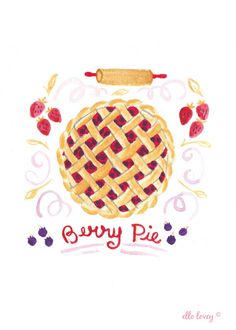 Fresh Berry Pie- 5x7 Art Print
