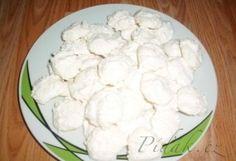 Píďák.cz - Recept - Kokosky - sněhové pusinky s kokosem