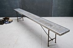 Tome Boys School Folding Steel Pool Bench. $1140