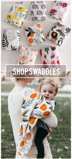 These super adorable100% organic cotton muslin swaddling blankets are lightweight, breathable and get softer with each wash. Choose from one of our amazing prints to personalize your unique style. Check them all out! All that AND free shipping.
