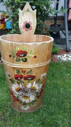 Piekne Donice drewniane do ogrodu reczna robota doniczki decoupeage Szczecin - image 2