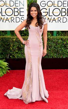 Tracey Edmonds from 2015 Golden Globes Red Carpet Arrivals