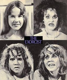 Linda Blair - make up tests for The Exorcist. Think how much craft ,glimpsed here, went into Dick Smith's masterpiece of cinema make-up design. Makes all the difference. Sci Fi Horror, Horror Art, Horror Pics, Horror Movie Posters, Horror Movies, Cinema Posters, The Exorcist 1973, Linda Blair, Crazy Women
