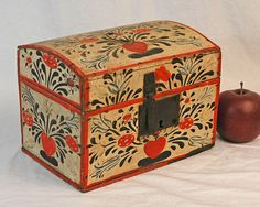 """Diminutive Antique Painted Dome Top Document Box ~ """"As Good As Old"""" Shop"""