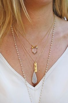 "I absolutely love the layered necklaces look! Definitely a new ""In"" for the fall!"
