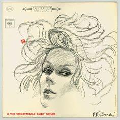 """The Unmistakable Tammy Grimes"", Vintage Sixties Female Vocalist, Columbia Records LP CS8784, Vintage Vinyl Record Album Cover Art by R. R. Bonche. For sale by City Beat Vintage Vinyl. $15.00"