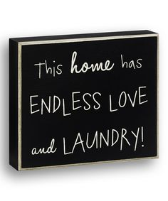 Look at this Black 'This Home' Wall Sign on #zulily today!