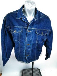 Calvin Klein Blue Denim Jacket Mens Size M Long Sleeve Metal Buttons ⚡ #CalvinKlein #BomberJacket Blue Denim Jacket Mens, Denim Jackets, Vintage Jacket, Vintage Denim, Calvin Klein, Vintage Outfits, Vintage Clothing, Klein Blue, Metal Buttons