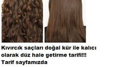 Kıvırcık saçları doğal kür ile kalıcı olarak düzleştirme