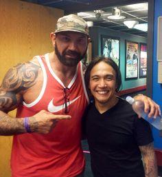 Batista & Arnel Pineda of Journey Dave Bautista, Batista Wwe, Stud Muffin, Wwe Champions, Dream Chaser, Celebrities, Men, Filipino, Eye Candy