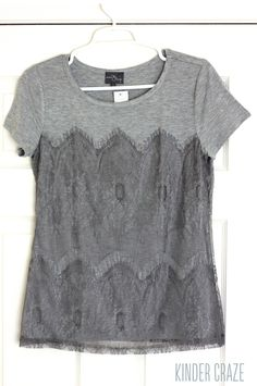 Cute casual top that can be dressed up. Love gray!