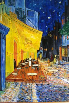 """Cafe at Night"" // ""O Terraço do Café à Noite"", Vincent Van Gogh, 1888"