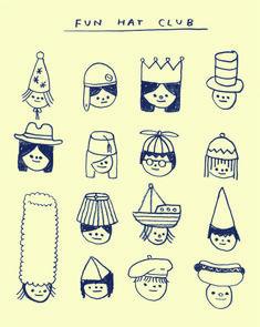 The Illustration of Hiller Goodspeed Art And Illustration, Doodle Art, Cute Drawings, Cute Art, Art Inspo, Character Design, Sketches, Artwork, Patterns