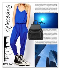 """Romwe 6"" by magicofthemoment ❤ liked on Polyvore featuring moda e Converse"