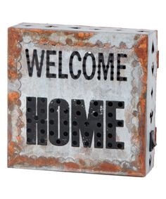 Look what I found on #zulily! 'Welcome Home' Lighted Wall Sign #zulilyfinds
