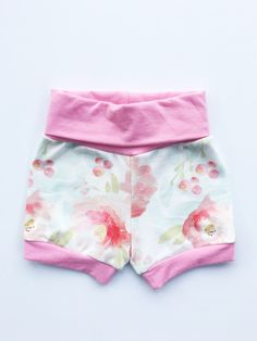Blush Pink Floral Bloomers Bubble Shorts https://www.etsy.com/listing/501424534/100-organic-watercolor-fresh-coral-light