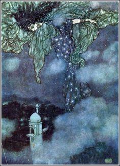 Edmond Dulac, illustration pour les Mille et Une Nuits