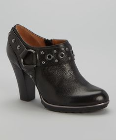 Black Winona Leather Bootie | zulily
