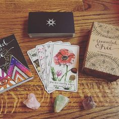 Connected & Free -- a beautiful oracle deck from Inner Hue, maker of the Lumina Tarot. Oracle Tarot, Oracle Deck, Mental Training, Mystique, Witch Aesthetic, Tarot Spreads, Tarot Readers, Card Reading, Book Of Shadows