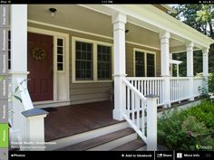 GS - love this look for the posts and the fencing around the porch