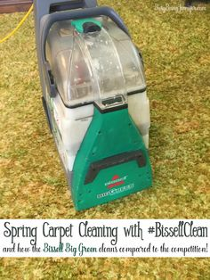 Spring Carpet Cleaning with #BissellClean! We were challeneged to clean and compare the BISSELL Big Green to the Rug Doctor! Check out the results for yourself! You might just rethink your next carpert cleaner rental! - Busy Being Jennifer #bissellclean #ad