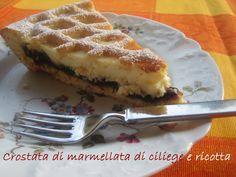 Anna The Nice: crostata di ricotta e marmellata di ciliege fatta in casa