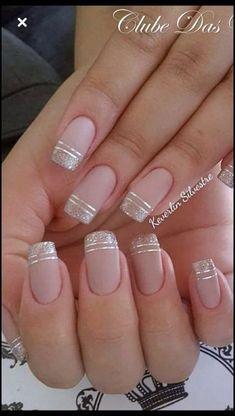 nails - NagelDesign Elegant ( Maravilhosa Caroline Fo ) caroline elegant manicure maravilhosa na Square Nail Designs, French Nail Designs, Nail Art Designs, Nails Design, Elegant Nail Designs, Nagellack Design, Nagellack Trends, Cute Nails, Pretty Nails