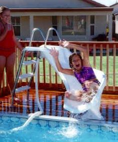 Deandra and Auggie picked this one: Above Ground Pool Slide