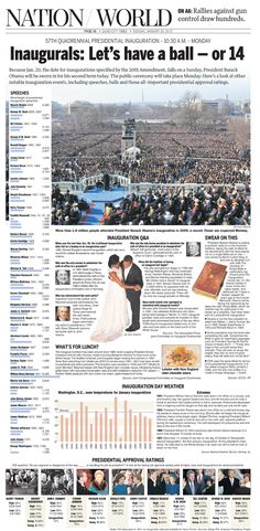 Inauguration special page for the Quad-City Times by Nate Bloomquist
