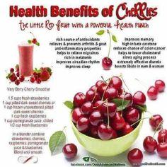 Health Benefits of Cherries via topoftheline99.com