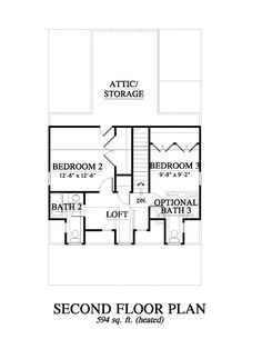 Allison Ramsey Architects | Floorplan for Valley Farm Cottage(variation) - 1677 square foot house plan # 09412P