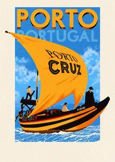 Portuguese travel posters by Rui Ricardo