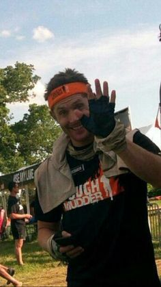 Jensen Ackles at the Tough Mudder outside of Austin, TX.  May 2 ,  2015.