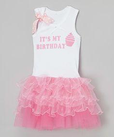 Look what I found on #zulily! Pink 'It's My Birthday' Tutu Dress - Infant, Toddler & Girls #zulilyfinds