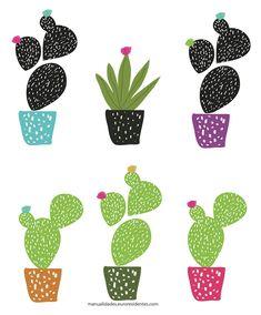 dibujo de cactus para imprimir